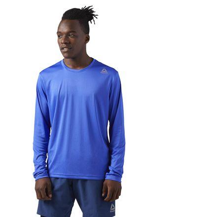 Reebok Running Long Sleeve Men's T-Shirt in Acid Blue