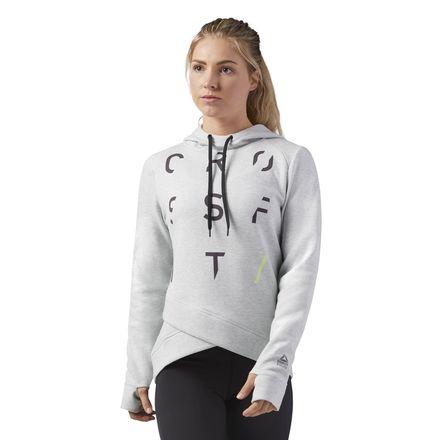 Reebok CrossFit Women's Training SpeedWick Hoodie in Light Grey