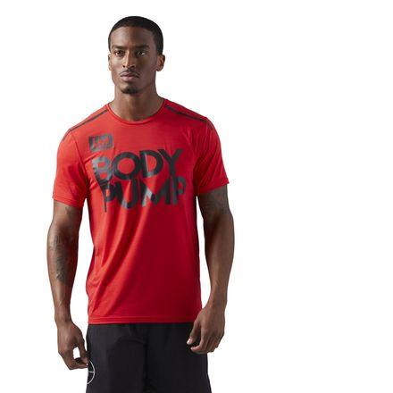 Reebok LES MILLS BODYPUMP™ ACTIVCHILL Men's Studio T-Shirt in Primal Red