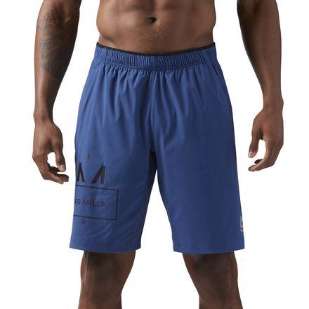 Reebok LES MILLS Men's Studio 10in Shorts in Washed Blue