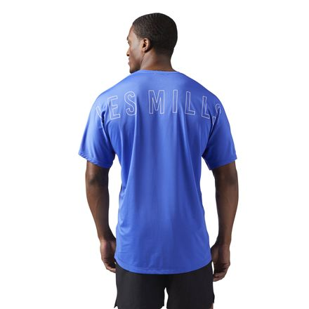 Reebok LES MILLS ACTIVCHILL Men's Studio T-Shirt in Acid Blue