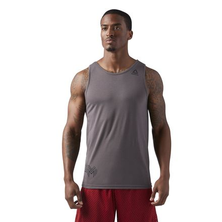 Reebok LES MILLS Supremium 2.0 Men's Studio Tank Top in Urban Grey