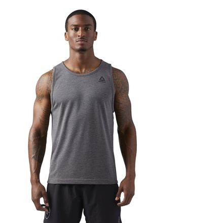 Reebok LES MILLS Dual Blend Men's Studio Tank Top in Dark Solid Grey