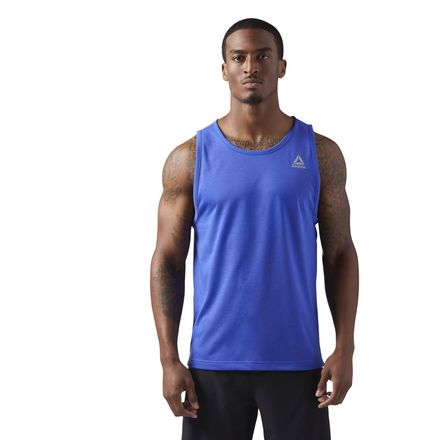 Reebok LES MILLS Dual Blend Men's Studio Tank Top in Acid Blue