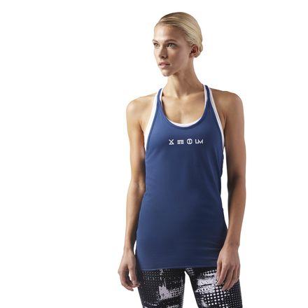 Reebok LES MILLS Supremium Women's Studio Tank Top 2.0 in Washed Blue