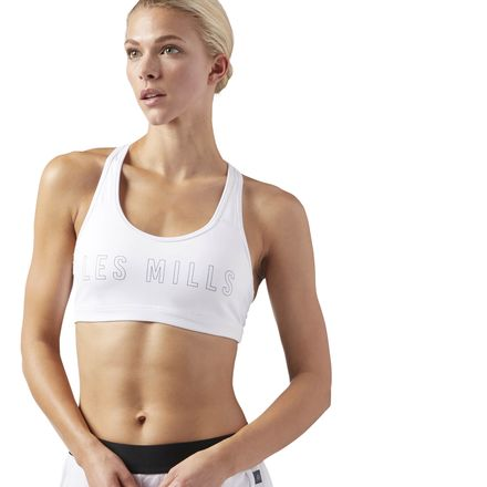 Reebok LES MILLS Hero ACTIVCHILL Women's Studio Padded Sports Bra in White