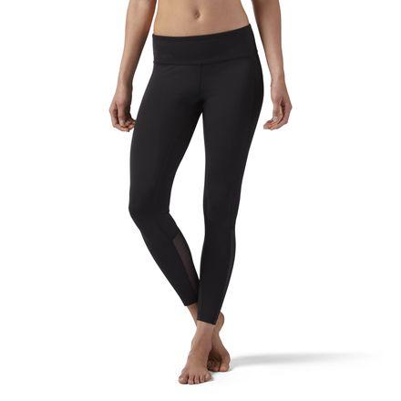 Reebok Mesh Legging Women's Studio, Dance Tights in Black