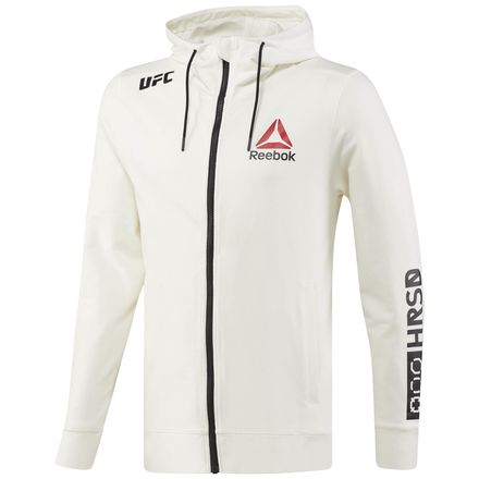 Reebok UFC Fight Night Men's MMA Blank Walkout Hoodie in Chalk