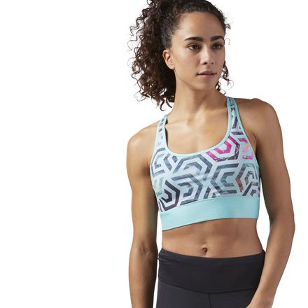 Reebok Women's Running High Impact Sports Bra in Turquoise