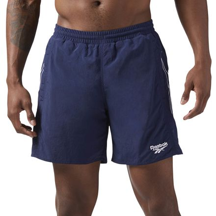 Reebok Men's Casual Retro Woven Shorts in Collegiate Navy