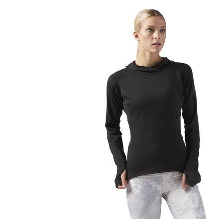 Reebok Combat Women's Lightweight Hoodie in Black