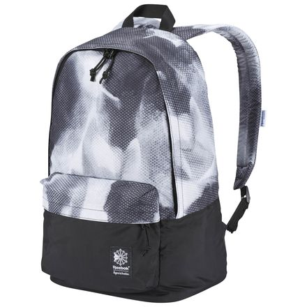 Reebok Classic Graphic Casual Backpack in Black / White