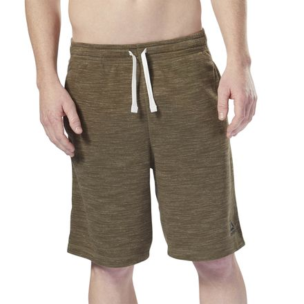 Reebok Marble Melange Men's Lifestyle Shorts in Army Green