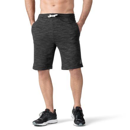Reebok Men's Training Marble Melange Shorts in Black
