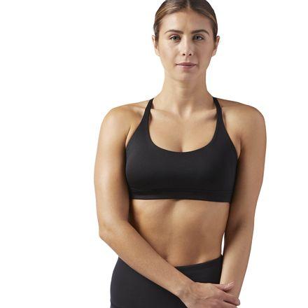 Reebok Workout Ready Women's Fitness Training Sports Bra in Black