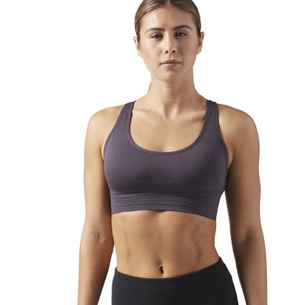Reebok Workout Ready Women's Training Seamless Sports Bra in Smoky Volcano