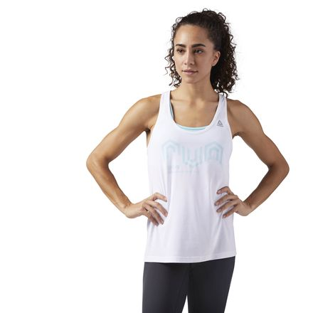 Reebok ACTIVCHILL Cooling Women's Running Tank Top in White