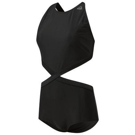 Reebok Women's Speedwick Swimsuit in Black