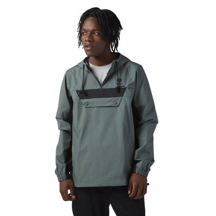 Reebok Cotton Anorak Sweatshirt Men's Casual Pullover in Chill Green