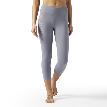 Reebok LES MILLS Lux 3/4 Tight Women's Dance, Studio Legging in Asteroid Dust