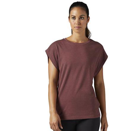Reebok x FACE Stockholm Tee Women's Studio T-Shirt in Burnt Sienna