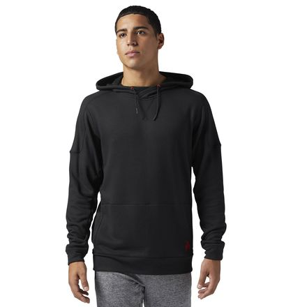 Reebok x JJ Watt Casual Hoodie Men's Training Sweatshirt in Black