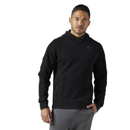 Reebok Classics Hoodie Men's Casual Sweatshirt in Black
