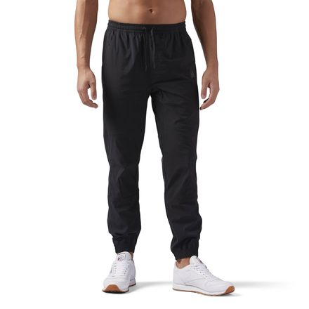 Reebok Training Supply Woven Jogger Men's Pants in Black