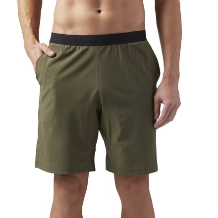 Reebok Men's Training Speed Shorts in Army Green