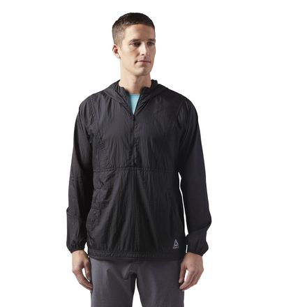 Reebok Lightweight Woven Men's Training Packable Jacket in Black