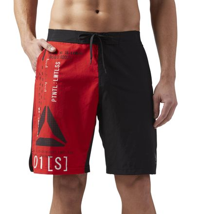 Reebok Epic Lightweight Men's Training Shorts in Primal Red