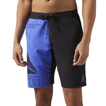 Reebok Epic Lightweight Men's Training Shorts in Acid Blue