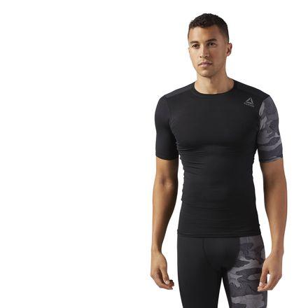 Reebok ACTIVCHILL Graphic Men's Training Compression T-Shirt in Black