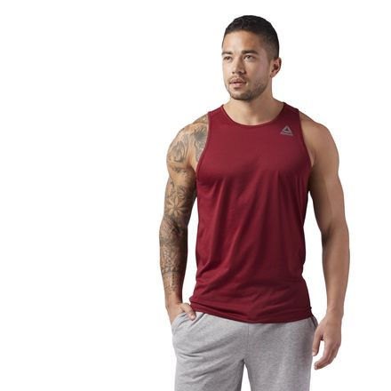Reebok Sport Essentials Men's Training Tank Top in Collegiate Burgundy