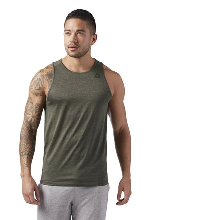 Reebok Sport Essentials Men's Training Tank Top in Hunter Green