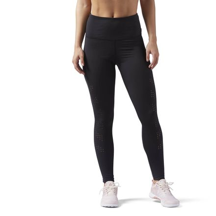 Reebok Perf High-Waisted Women's Training leggings in Black