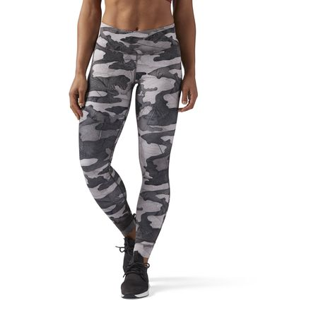 Reebok Women's Training Bold Camo Legging in Smoky Taupe