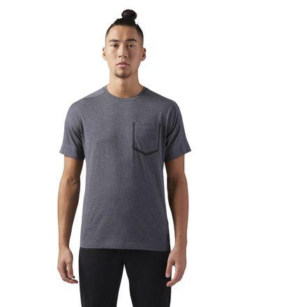 Reebok Training Supply Move Men's T-Shirt in Dark Grey