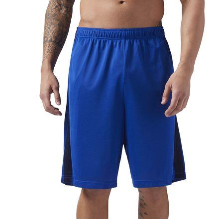 Reebok Men's Training Mesh 9in Basketball Shorts in Royal Blue