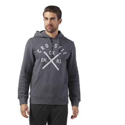 Reebok CrossFit Heritage Men's Training Pullover Hoodie in Dark Grey