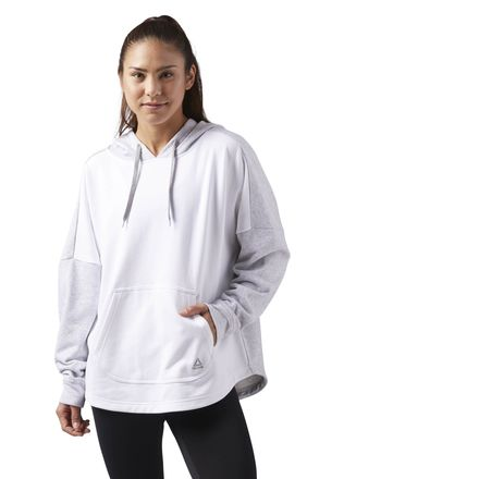 Reebok Sport Essentials Women's Training Pullover Hoodie in Light Grey