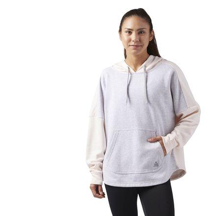 Reebok Sport Essentials Women's Training Pullover Hoodie in Pale Pink