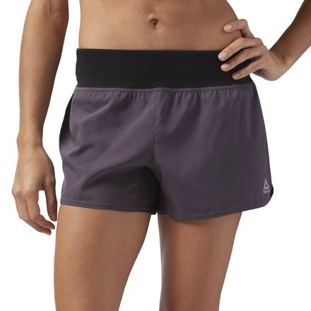 Reebok Women's 4in Woven Training Shorts in Smoky Volcano