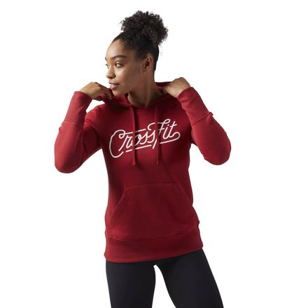 Reebok CrossFit Script Women's Training Hoodie in Rich Magma Red