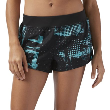 Reebok Women's Training 3in Woven Shorts in Solid Teal / Black