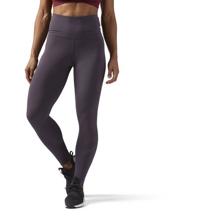 Reebok Perf High-Waisted Women's Training leggings in Smoky Volcano