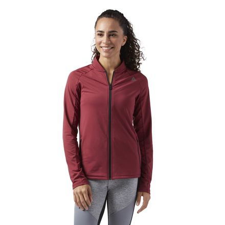 Reebok Women's Training Speedwick Track Jacket in Urban Maroon