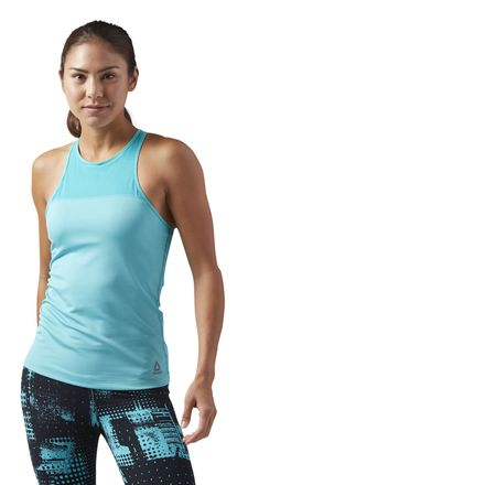 Reebok Women's Training Tank Top With Built Support in Solid Teal
