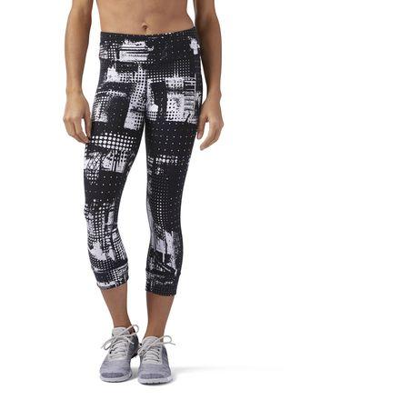 Reebok Lux Women's Training Capri Leggings in White / Black