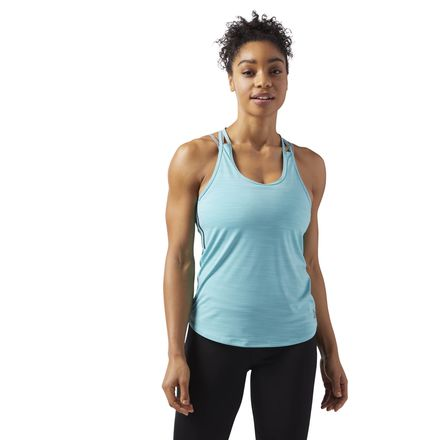 Reebok ACTIVCHILL Women's Training T-Back Tank Top in Turquoise